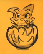 DoNR Patch Baby im Ei Zeichnung