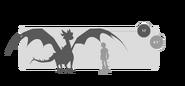 Säbelzahn-Knirscher Größe