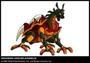 TMNT Michelangelo Drache