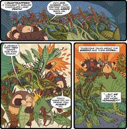 Schnappende Falle Tod und Schokolade Comic
