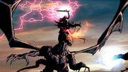 Morgan le Fay and a dragon Marvel Comics