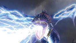 Sktill Blitze speiend