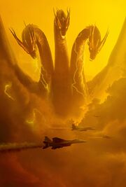 Godzilla King of the Monsters - Ghidorah poster - Clear keyart