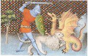 Yvain-drache Löwe