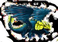 Rumpelhorn blau-gelb