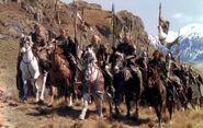 Die Rohirrim auf dem Weg zur Schlacht nach Gondor