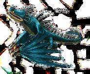 Skrill blau mitgrauen Stacheln