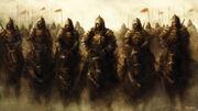 1920x1080 1828 Sun Set Klan 2d fantasy warriors horses picture image digital art