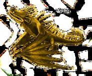 Skrill gold Statue