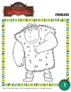 Ausmalbild Fischbein 2 HTTYD