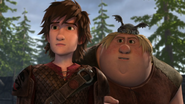 Out of the frying pan scene, hiccup and fishlegs 2