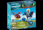 Playmobil - Astrid mit Fluganzug und Nimmersatt - Box
