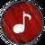 Baby-Drachen Musik rot