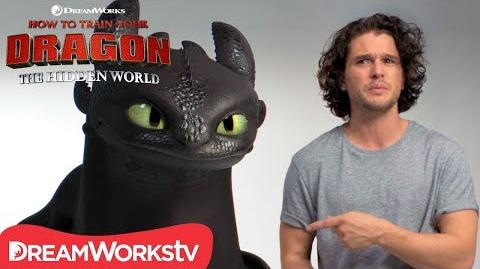 HOW TO TRAIN YOUR DRAGON THE HIDDEN WORLD Kit Harington Auditions with Toothless