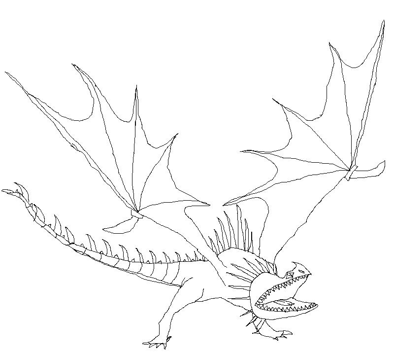 Bild - Skrill ausmalbild.jpg | Drachenzähmen leicht gemacht Wiki ...