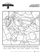 Malen nach Zahlen Sturmpfeil HTTYD2