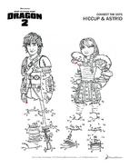 Zahlenverbinden Hicks und Astrid HTTYD2