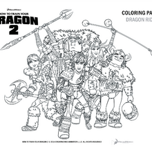 ausmalbilder dragons ohnezahn - zeichnen und färben