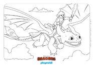 PLAYMOBIL COLORING DRAGON 5