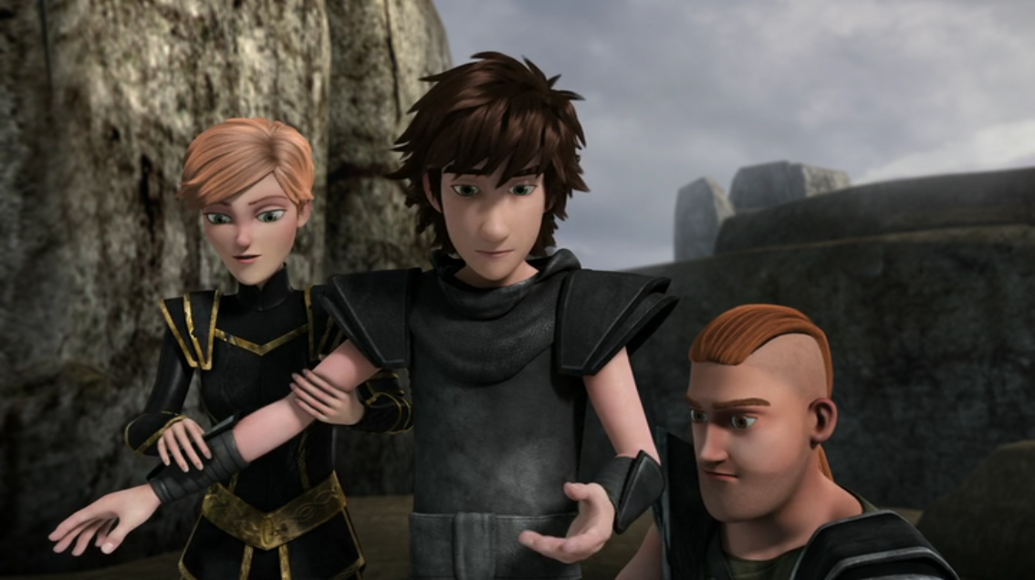 Bild - Out of the frying pan scene, Hiccup, Throk and Mala
