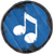 Baby-Drachen Musik blau