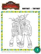 Ausmalbild Raffnuss und Taffnuss 2 HTTYD