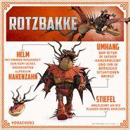 HTTYD3 Rotzbakke Drachenrüstung Info D