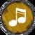 Baby-Drachen Musik gelb