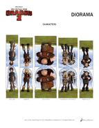 Basteln Diorama Vorlage 3