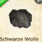 Schwarze Wolle