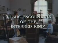 Klaus Encounters of the Interred Kind title card