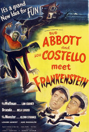 Abbott and costello meet frankenstein poster
