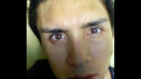 Jose Rafael Cordero Sanchez con ojos de vampiro