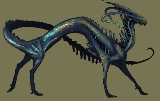 Labradorite Dragon Original Sketch