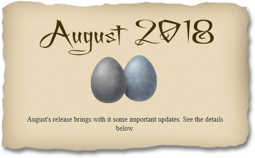 2018-08-26 August 2018 release