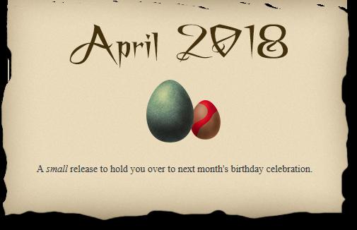 2018-04-22 April 2018 release