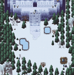 Festive Exp Ice Temple outside