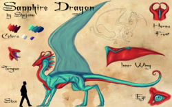 Sapphire dragon concept
