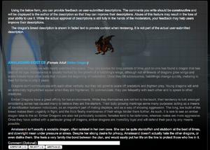 Review user descriptions screencap
