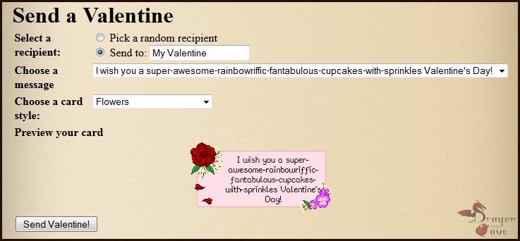 send a valentine dragon cave wiki fandom powered by wikia