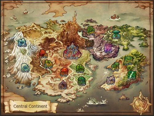Map Central Continent
