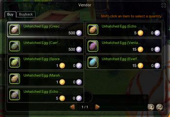 Egg vendor list (Maria)