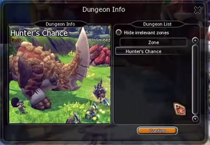 Hunter's Chance dungeon info