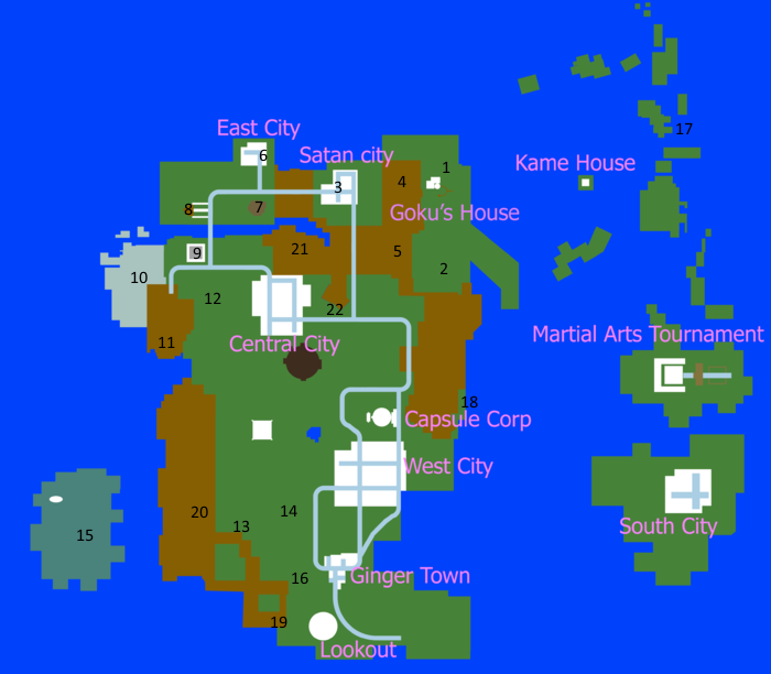 The 100 Map Of Earth.Map Dragon Ball Z Final Stand Wiki Fandom Powered By Wikia