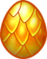 Huevo armadura dorada