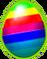 Huevo arcoiris triple