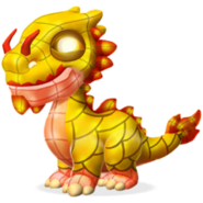 Ceramic Dragon Baby