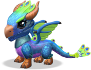 Peacock Dragon Baby