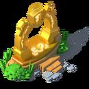 Ancien portail doré