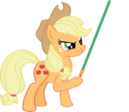 Applejack with Lightsaber
